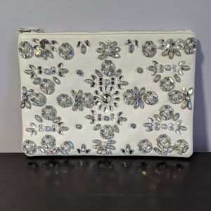 ASOS - Faux Leather Crystal Flower Clutch